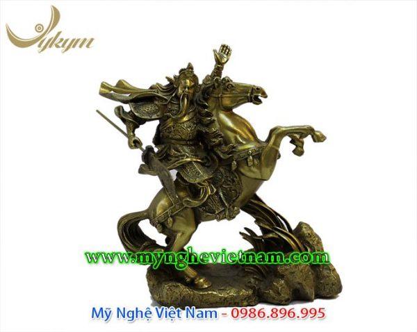 tượng quan công cưỡi ngựa 37cm