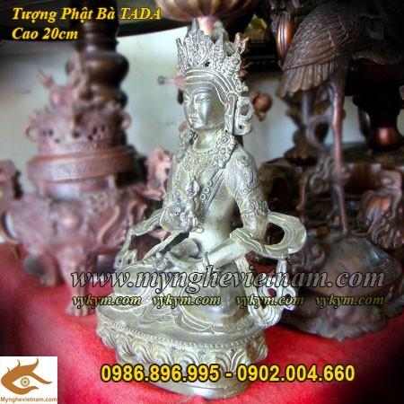 Tượng Phật Bà Tây Tạng,Cao 20cm, Phật bà Mật Tông,Phật Tada,phái Mật Tông