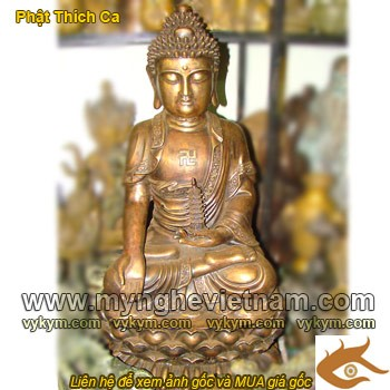 Tượng phật Thích Ca, cao 80cm,Tượng Phật Tổ Như Lai, Phật Tổ chất liệu đồng, tượng đồng vàng thanh khiết