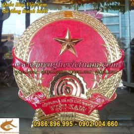 Quốc Huy Việt Nam,chạm đồng,gò đồng,sản xuất mọi kích thước,trang trí cơ quan, ủy ban,tòa nhà