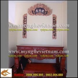 Hoành Phi Câu Đối,đồng đỏ 1m55,sản phẩm đồ thờ cúng cao cấp