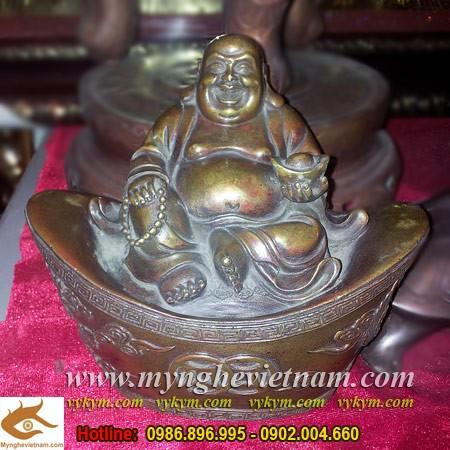 Tượng Phật Di Lặc,ngồi kim bảo,ngồi tiền,cao 15cm