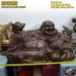 Tượng Phật Di Lặc,tựa bao bố,dâng tiền,cao 35cmx60cm