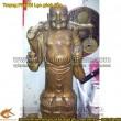 Tượng Phật Di Lạc, gánh vàng,Cao 100cm,giả cổ,Phật di lặc, gánh Tiền, TƯợng thờ cúng, Phật Tổ di lặc