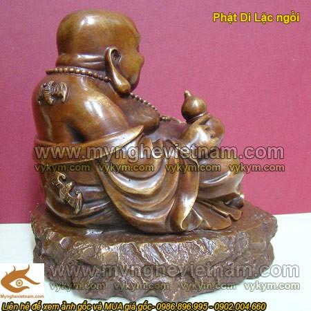 Tượng Phật Di Lạc,ngồi cầm hồ lô,Di Lạc Phật Tổ,tượng đồng,tượng thờ cúng