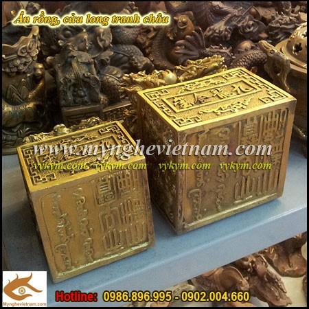 Ấn Cửu Long, Ấn Thăng Quan, Ấn Phong Quan, Ấn Rồng bằng đồng,Ấn Rồng,Ấn Đồng, Ấn đồng phong thủy