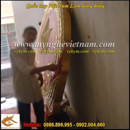 Sản xuất Quốc huy Việt Nam bằng đồng