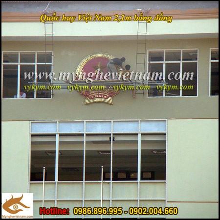Sản xuất Quốc huy Việt Nam bằng đồng, lắp đặt quốc huy