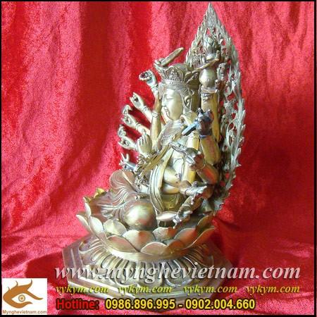 Tượng Phật Mẫu Chuẩn Đề,Chuẩn Đề Bồ Tát,Phật Chuẩn Đề,bằng đồng