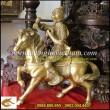 Phong hầu tượng, cao 30cm,bằng đồng,tượng khỉ hầu cưỡi ngựa, Mã Thượng Phong Hầu, phong hầu áo giáp