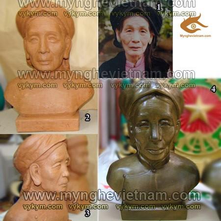 Nơi Đúc tượng, tạc tượng chân dung, bằng đồng