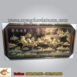 Tranh mã đáo thành công,KT 75x150cm,tranh bát mã toàn đồ, tranh ngựa, ngựa đẹp, tranh đồng, tranh phong thủy