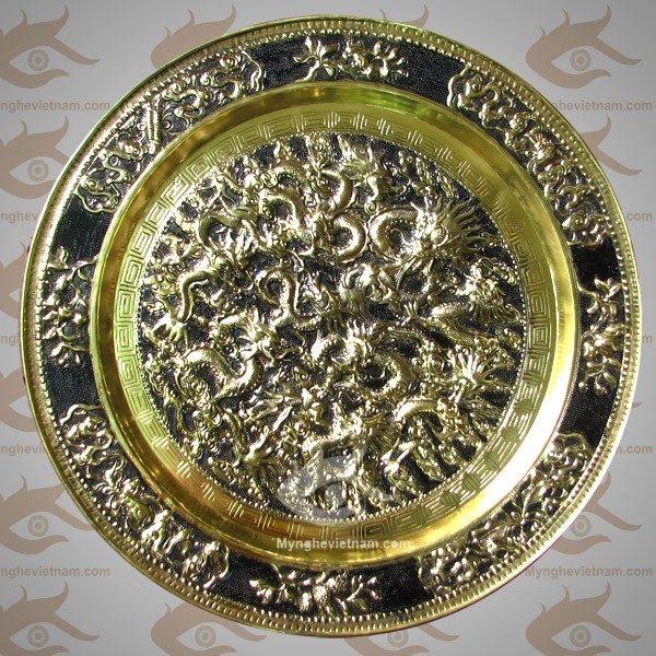 Mâm Cửu Long, Mâm Đồng, Mâm chín con rồng, mâm chạm đồng, mâm trang trí bằng đồng