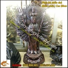 Phật bà nghìn mắt nghìn tay, thiên thủ thiên nhãn, tượng bằng đồng, cao 60cm