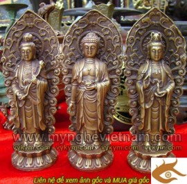 Tượng Tam thánh, Tam thế Phật, cao 20cm