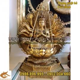 Phật Bà nghìn mắt nghìn tay, Cao 45cm,Phật Bà thiên thủ thiên nhãn, tượng bằng đồng