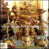 Đỉnh Đồng Song Long đúc nổi, cao 36cm,đỉnh đồng vàng