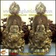 Hoa đài tam tôn,tượng đồng vàng 25cm