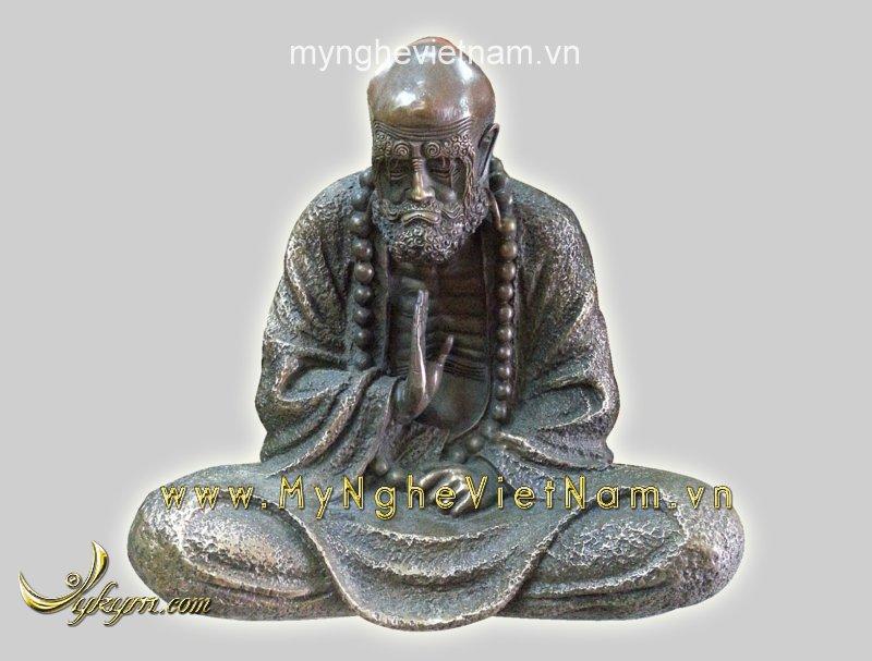 Tượng đạt ma sư tổ cao 30cm tượng thờ bằng đồng0