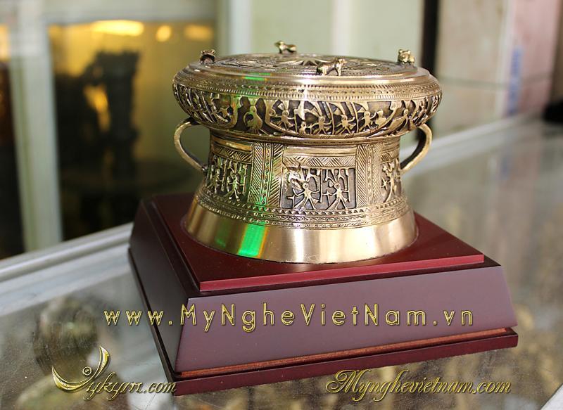 Trống đồng quà tặng 12cm, quà tặng lưu niệm văn hóa Việt Nam, quà tặng sự kiện