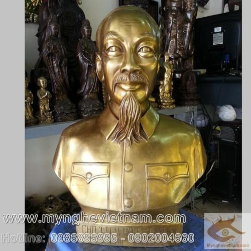 Tượng Bác Hồ cao 30cm, tượng đồng Bác Hồ