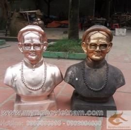 Đúc tượng chân dung, đúc tượng đồng, tượng đồng bán thân, điêu khắc tượng đồng
