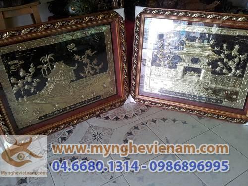Tranh Khuê Văn Các, Tranh chùa 1 cột, quà tặng văn hóa Hà Nội, ý nghĩa quà tặng văn hóa, tặng quà đối ngoại