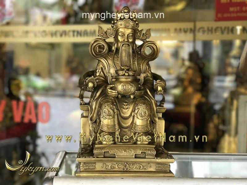 Tượng thần tài cao 40cm bằng đồng cao cấp0