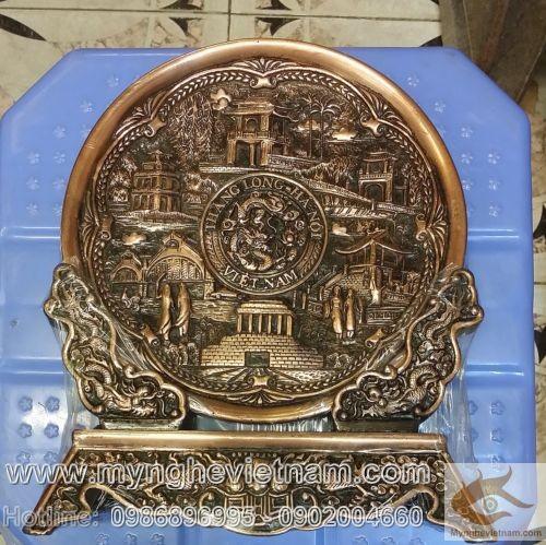 Đĩa đồng 6 cảnh Hà Nội, Văn hóa Hà Nội, Việt Nam, sản xuất quà tặng, đĩa đồng lưu niệm