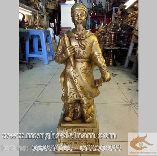 Tượng Trần Hưng Đạo, Đức Thánh Trần bằng đồng vàng 32cm
