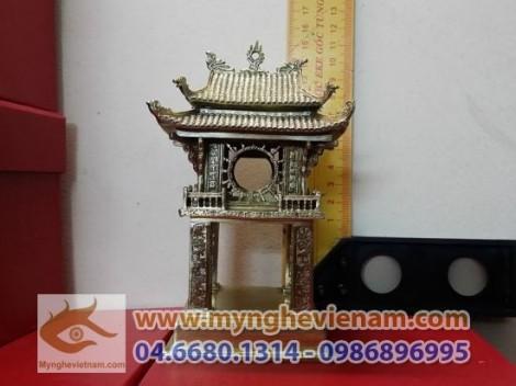 Sản xuất quà tặng, tượng khuê văn các, văn miếu quốc tử giám, bằng đồng cao 15cm,mô hình văn hóa Hà Nội