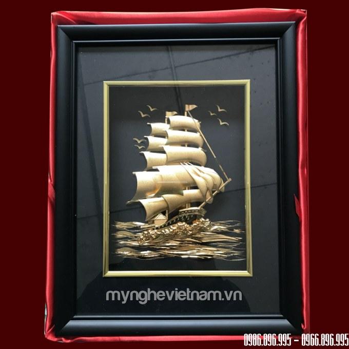 Tranh thuận buồm xuôi gió dát vàng 24k cao cấp kt 25x32cm0