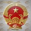 Sản xuất quốc huy Việt Nam mẫu tiêu chuẩn quốc gia bằng đồng và composite