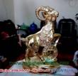 Tượng dê đồng mạ vàng, dê đồng cho năm mùi - PTD15V