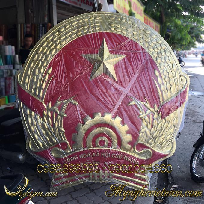 Sản xuất quốc huy Việt Nam mẫu chuẩn quốc gia bằng đồng – composite0