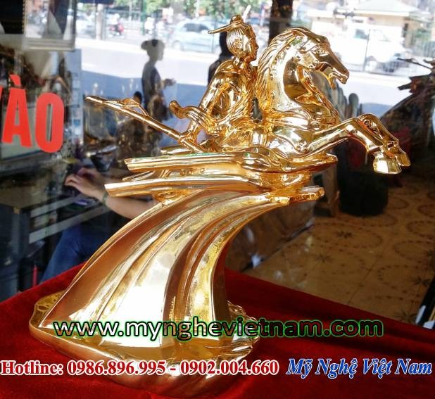 Tượng đồng Thánh Gióng mạ vàng, tượng quà tặng lưu niệm