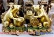 Chuột đồng phong thủy ôm tiền bằng đồng 12cm