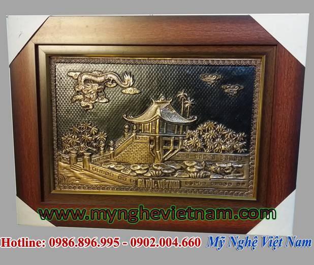 Tranh chùa 1 cột 30x40cm quà tặng văn hóa Hà Nội0