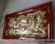 Tranh đồng Rồng cuốn ngọc 1m6 đồng vàng