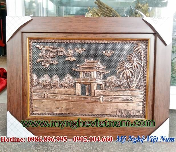 Tranh Khuê Văn Các 30x40cm, tranh văn miếu quà tặng đối tác