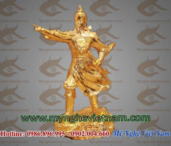 Tượng Trần Hưng Đạo mạ vàng cao 25cm