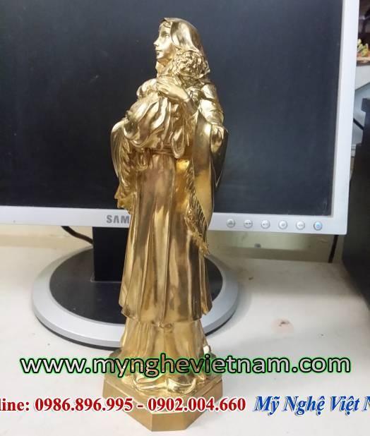 Tượng đức mẹ Maria bế con, tượng đồng nghệ thuật Mẹ Maria