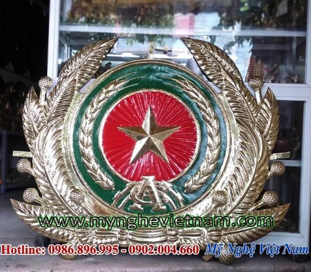 Huy hiệu công an nhân dân 1m2 bằng đồng nổi 3D