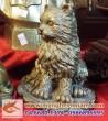 Tượng mèo đồng cao 15cm