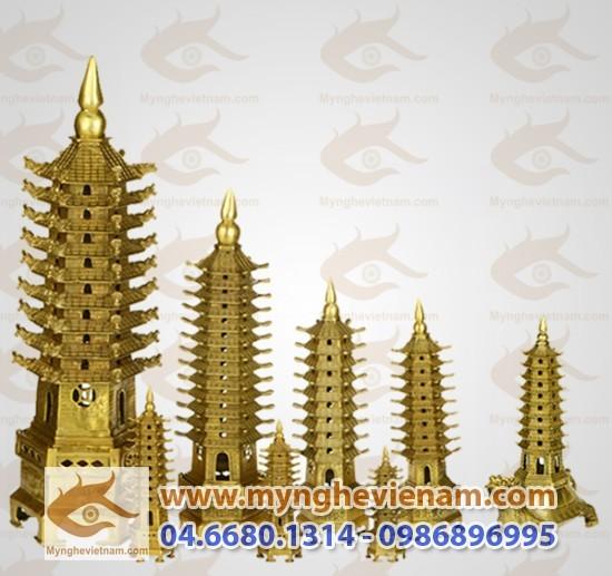 Các loại tháp văn xương bằng đồng phong thủy0