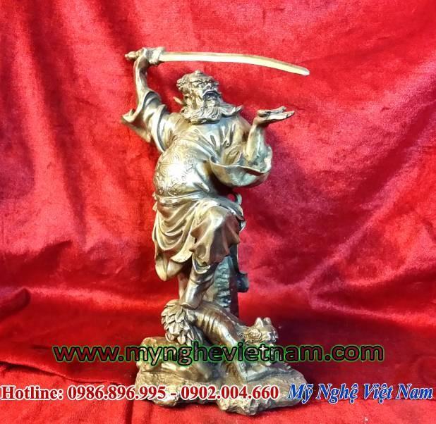 Tượng thần chung quỳ, tượng bắt ma trừ tà phong thủy 25cm0