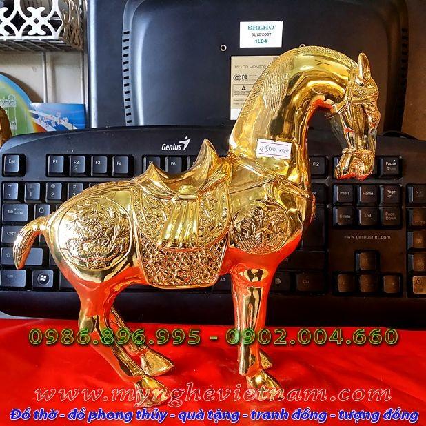 Tượng ngựa đồng mạ vàng, tượng ngựa đồng phong thủy0