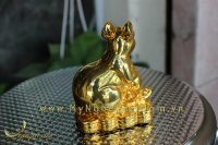 tượng chuột đồng ngồi tiền mạ vàng cao cấp 2