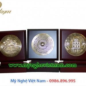 đĩa đồng quà tặng lưu niệm, đĩa đúc đồng