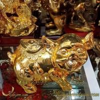tượng heo đồng mạ vàng phong thủy cao cấp 2